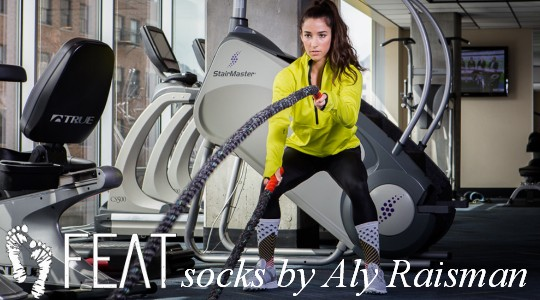 Aly Raisman socks by FEAT not only for gymnasts!