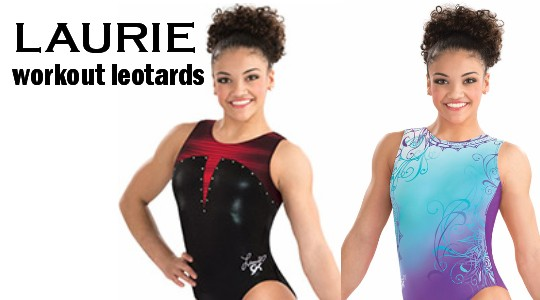 Laurie Hernandez gymnastics leotards by GK Elite from Discount Leotards discountleotards.com