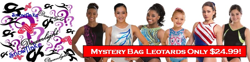 GK Elite Dreamlight Snowflake Alpha Factor Gymnastics Leotards Mystery Bag