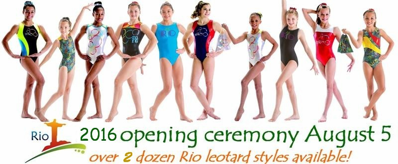 Rio Gymnastics Leotards 2016
