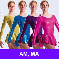 SKATE DRESSES, LEOTARDS - AM, MA
