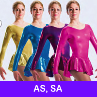 SKATE DRESSES, LEOTARDS - AS, SA
