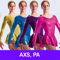 SKATE DRESSES, LEOTARDS - AXS, 12-14 YRS, PA