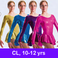 SKATE DRESSES, LEOTARDS - CL, 10-12 YRS, JrL