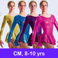 SKATE DRESSES, LEOTARDS -CM, 8-10 yrs, JrM