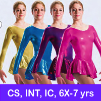 SKATE DRESSES, LEOTARDS - CS, IC, INT, 6X-7 YRS, JrS