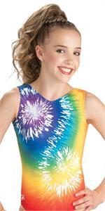 E3594 Rainbow Tie Dye Show Stopper Gk Elite Sportswear