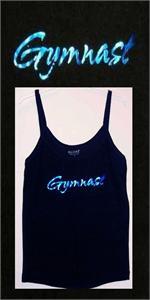 Blue Foil Gymnast Black Camisole Top