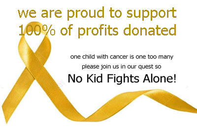 No Kid Fights Alone Childhood Cancer Awareness GK gymnastics dance leotard