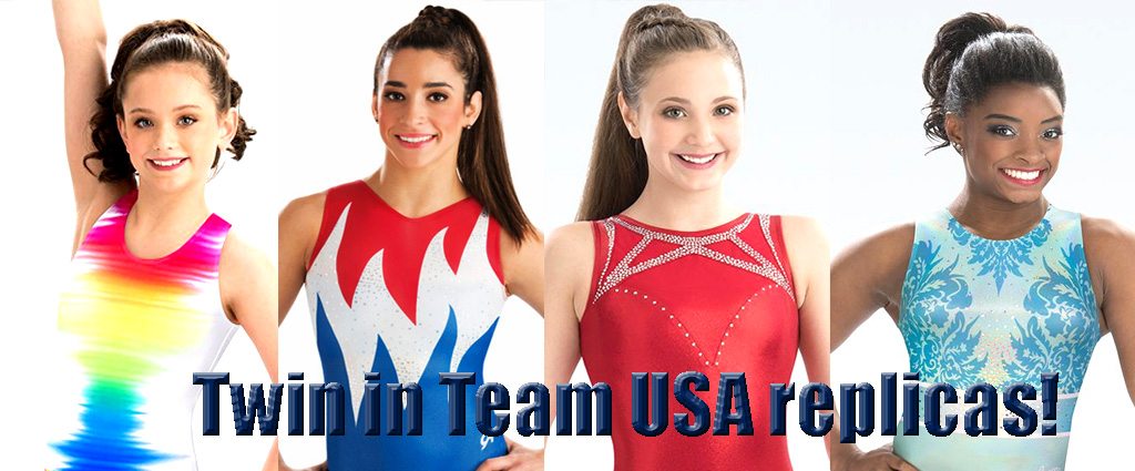 Team USA Replica gymnastics leotards for girls GK Elite