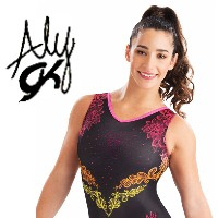 GK Elite Sportswear Aly Alexandra Raisman Leotards Gymnastics Button