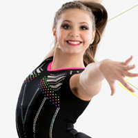 GK X Swarovski gymnastics leotard for girls