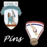 Girl's Women's Gymnastics Achievemnt Level Pins