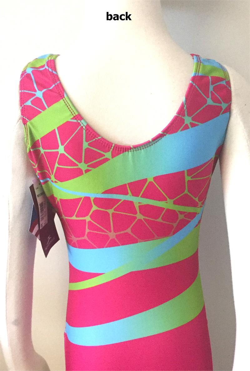 7f6122347d4b 1356 812 Crackle Ribbon Pink Motionwear Gymnastics Leotard ...