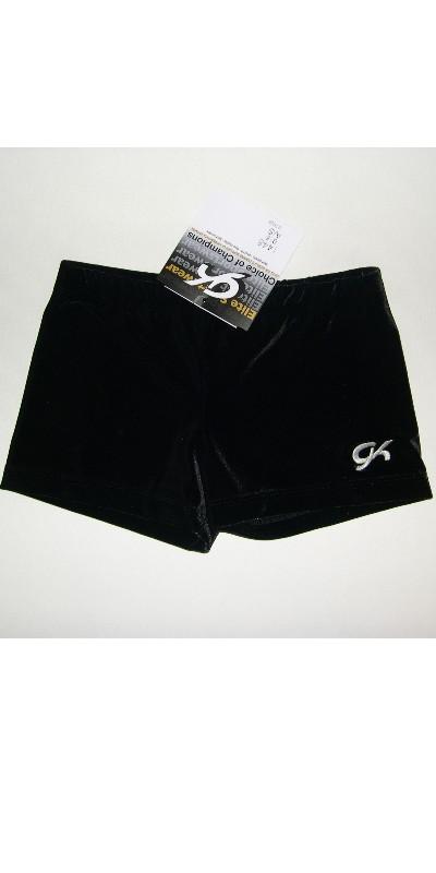 GK Elite Black Velvet//Gold Gymnastics Leotard AS Adult Small 3930