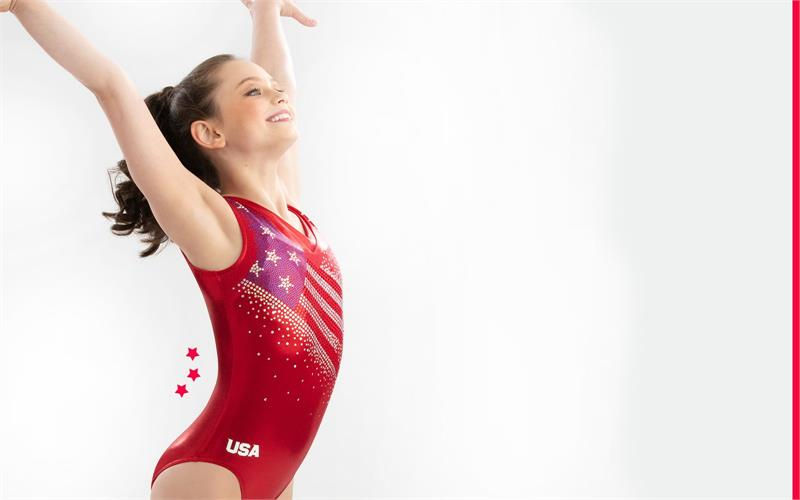 GK Elite Team USA replica 2018 World Championships Gymnastics Discount Leotards Gym Workout Leo Leotards for girls
