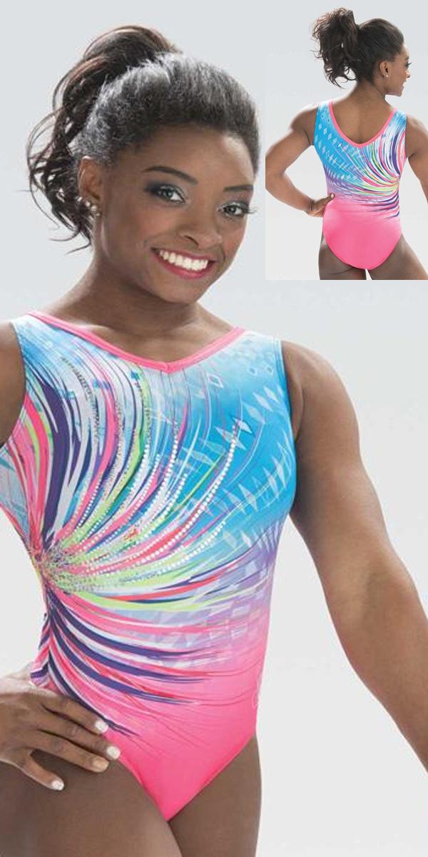 af0bfc4c8 E3735 Rainbow Swoosh Simone Biles Leotard GK Elite Sportswear ...