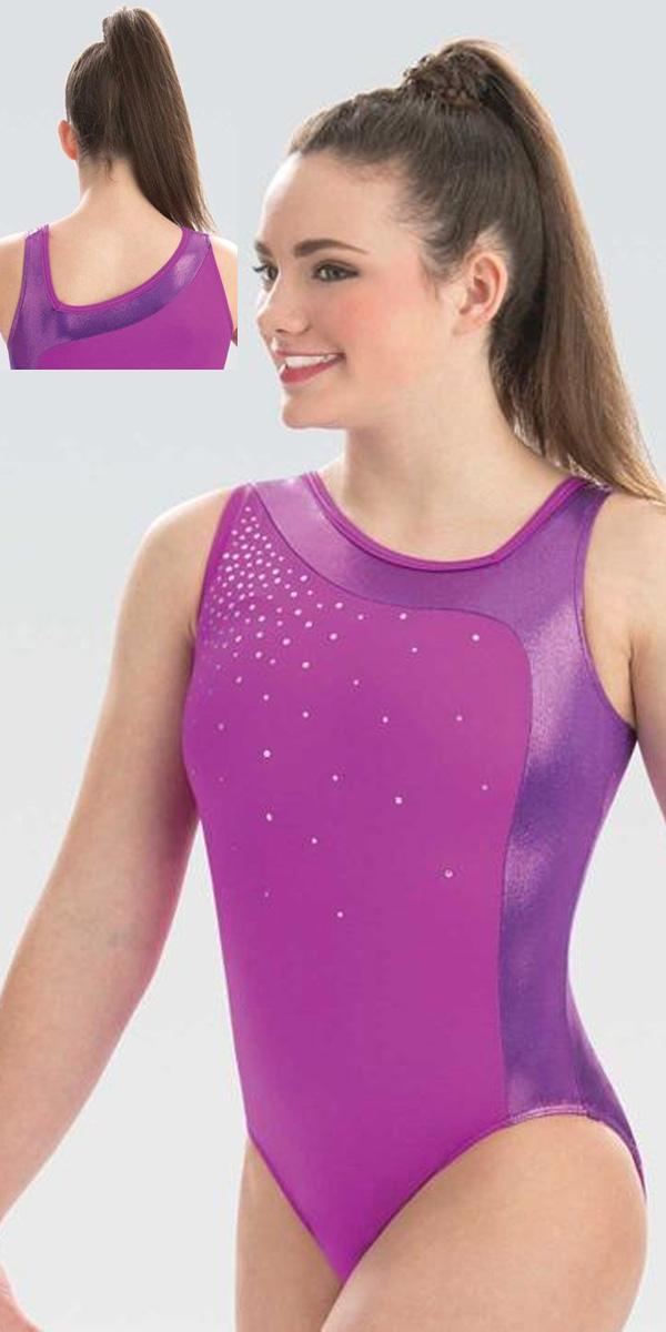 02fcc247e E3746 Purple Passion Gym Leotard GK Elite Sportswear Gymnastics ...