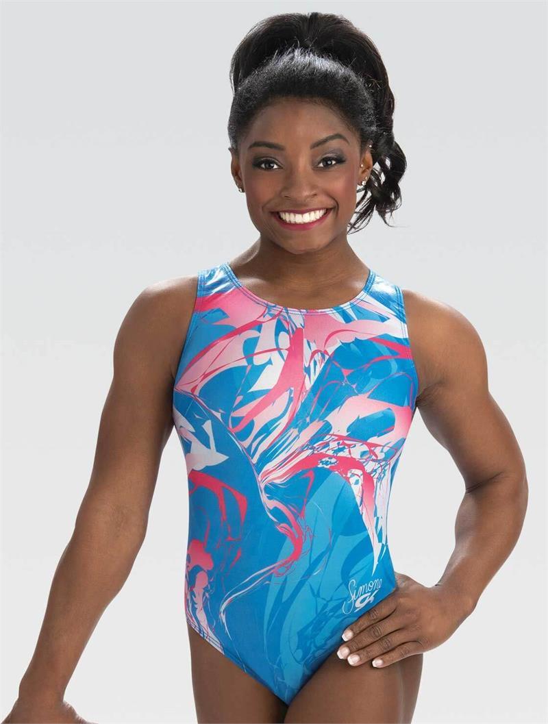 Simone Biles Child Medium Mix It Up GK Elite Gymnastics Leotard