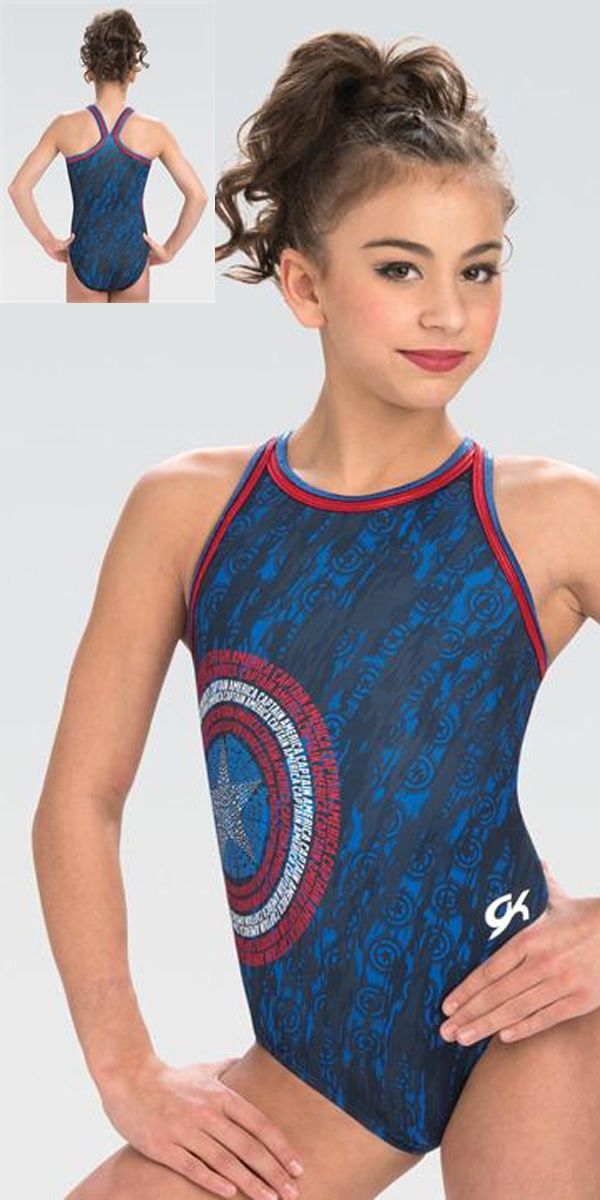 b0b05c130302 Marvel MV024 American Shield GK Elite Sportswear gymnastics ...