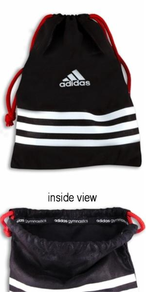 3071806cfdc5 Adidas grip bag. Black matte foil dot. Shiny red drawstring. 7 5 8 inches X  10 inches - VERY LIMITED SUPPLY!