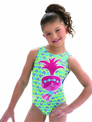 E3770 Huggable Troll - Poppy and Branch from Trolls - Sublimated subfuse  and turquoise nylon tank gymnastics leotard. 5ddc94e45cd