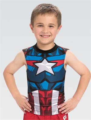 5de38a022410 MV034 Activate Captain America Marvel Boy s Men s Gymnastics ...