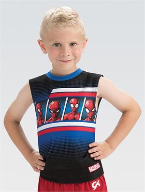 16a018137db4 MV046 Marvel s Spider-Man Panel Marvel Boy s Men s Gymnastics ...