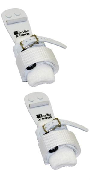 Bailie X-treme Extreme velcro and buckle, regular width ladies uneven bar grips with removable wristbands (1 pair).