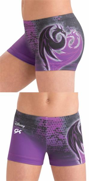 61620b5a6f4f DSY053 Daring Descendants - Disney © Mal Evie sublimated subfuse workout  shorts. CL