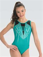 10500 Applause Dreamlight by GK gymnastics leotard with free hair scrunchie. 3484160d228