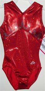 GK Elite Blue Velvet//Orange Foil Gymnastics Leotard AXS Adult Extra Small 3995