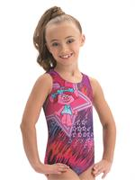 7a666c752caa E3769 Perfect Poppy from Trolls - Sublimated subfuse and magenta techmesh  racerback tank gymnastics leotard.